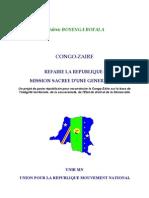 UNIR MN - CONGO-ZAIRE REFAIRE LA REPUBLIQUE,  MISSION SACREE D'UNE GENERATION
