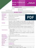 Datum 25/02/13 Revocación Municipal Susana Villarán