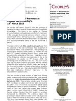 Chinese Art At Chorley's | The Importance Of Provenance | 18Th March 2013