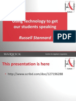 Using Technology to get students speaking in language classrooms