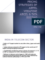 Pricing Strategies of Airtel Vodafone Aircel & Tata