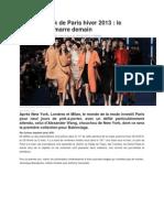 Fashion week de Paris hiver 2013.docx