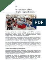 Les Industriels Chinois Du Textile Investissent de Plus en Plus l'Afrique