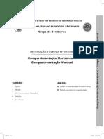 COMBATE INCÊNDIO Horizontal e Compartimentação Vertical