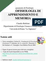 psicofisiologia di apprendimento e memoria.ppt