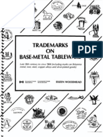 Trademarks on Base-Metal Tableware