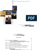 City of Windsor Capital Budget Documents For 2013.