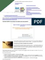 La procédure de maîtrise documentaire répondant aux exigences ISO