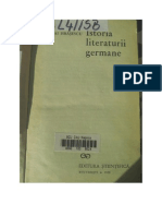 Mihai Isbasescu, Istoria Literaturii Germane