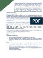 Canadian International School Application Process