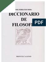 Ferrater Mora - Dicc de Filosofia Y