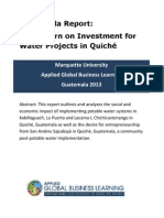 MU Return on Investment Document 2013