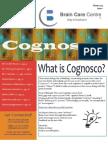 COGNOSCO, Brain Care Centre Newsletter