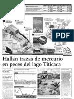 Hallan Trazas de Mercurio en Peces Del Lago Titicaca