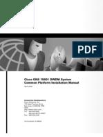 15801 DWDM System Common Platform Installation Manual.pdf