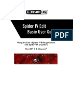 Spider IV Edit Basic User Guide - English ( Rev C )