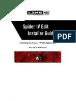 Spider IV Edit Installer Guide - English ( Rev D )