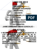 Exposicion Ley 1562 de 2012