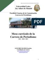 Meso_Curriculo Carrera de Periodismo FACCO_ULEAM_2012