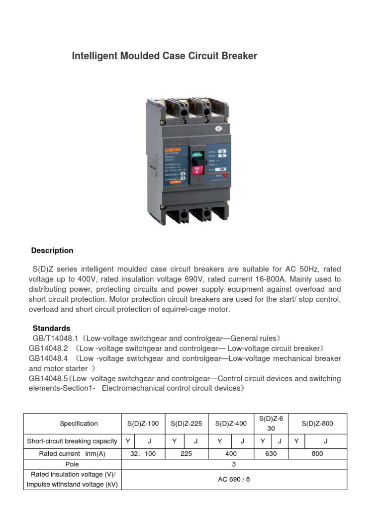 Circut Breaker Data Electrical Components Physical Quantities Short Circuit Protection To Your Power Supply