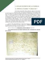 Estudio Del Linaje Paterno de La Familia de Manuel Ortega Juarez Caracol