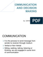 CH 8(Communication & Decision Making)