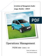Operational Management Stratergies of Tata Nano