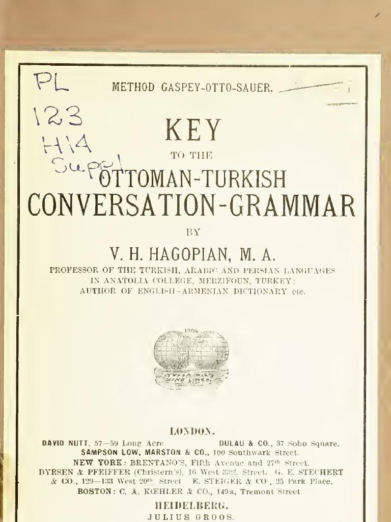 Ottoman Grammar Key | Semantic Units | Semiotics