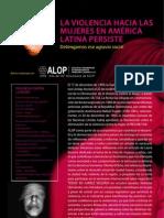 Violencia Hacia Las Mujeres en America Latina