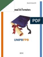 Manual Formatura UNIPBFPB