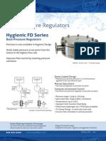 Equilibar s Hygienic FD Series Back Pressure Regulator Brochure