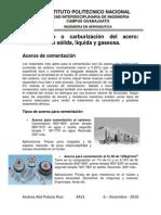 Cementación o carburización del acero