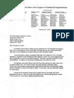 AFL-CIO Letter to Governor Cuomo