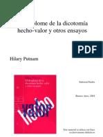 105273718 59264347 Putnam El Desplome de La Dicotomia Hecho Valor