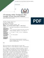 US Embassy Cables_ Saudis Fear 'Shia Triangle' of Iran, Iraq and Pakistan _ World News _ Guardian.co