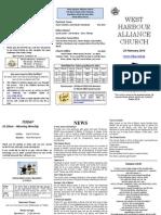 West Harbour Alliance Church Newsletter - 24 February 2013