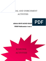 Asmaa Remedial and Enrichment Activities