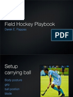 Field Hockey Playbook Scanning While Running With the Ball