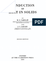 Conduction of Heat in Solids - Carslaw and Jaeger