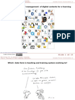 Production and ethical management  of digital contents for e-learning