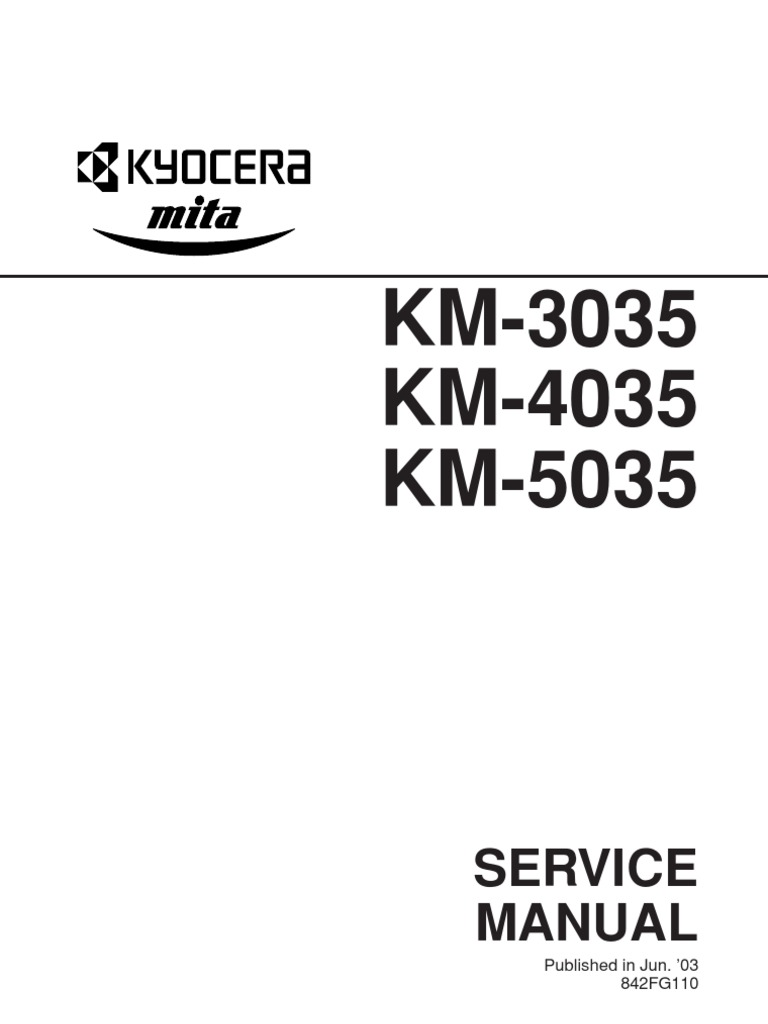 kyocera fs 1028mfp multifunction printer service repair manual parts list
