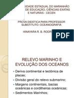 RELEVO MARINHO E EVOLUÇÃO DOS OCEANOS