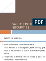 Valuation of Securities -SH