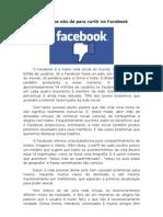 Coisas que não dá pra curtir no facebook