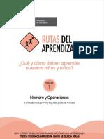 Matemática-RUTAS DE APRENDIZAJE