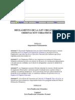 Reglamento de la Ley Organica de Ordenación Urbanistica