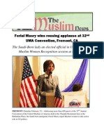 FERIAL MASRY FIRST SAUDI AMERICAN LADY GETS A ROUSING APPLAUSE AT 32 UMA CONVENTION