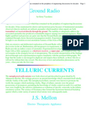 Ground Radio and Telluric Currents | Antenna (Radio