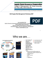 Sas Supply Risk Management Workshop 20074131