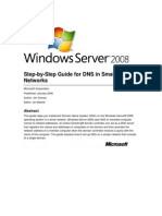 Windows Server 2008 Step-By-Step Guide for DNS in Small Networks
